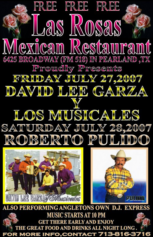 Tejano Mexicano Clubs Concerts And Events